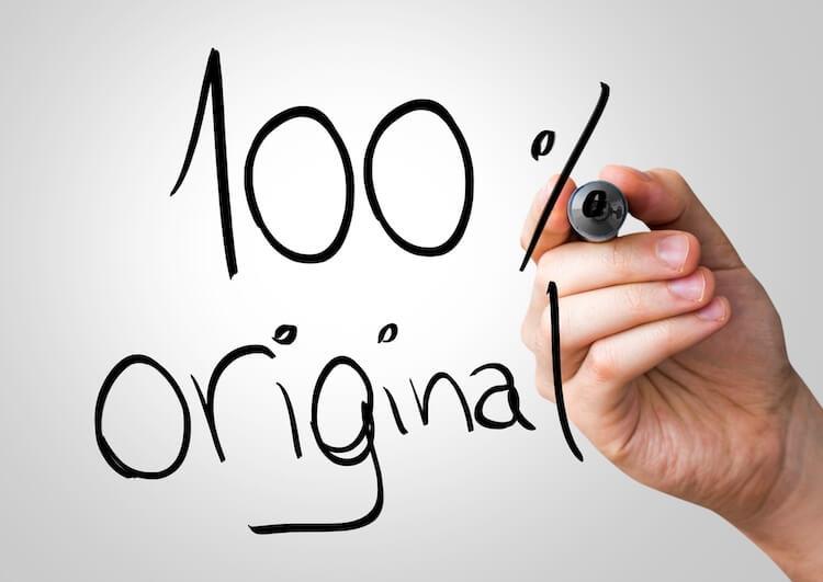 100% orijinal içerik üretimi
