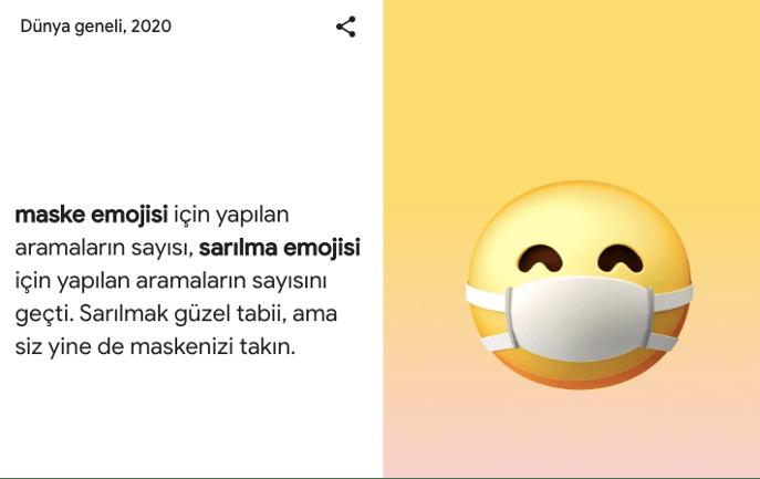 google arama trendleri maske emojisi